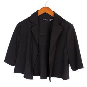 Ellen Tracy Size Medium Black Short Blazer Jacket